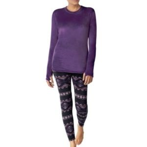 Cuddl Duds Climate Right Pajamas Small New